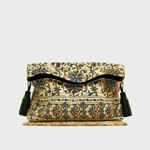 Envelope Bag with Genuine Leather Tassels